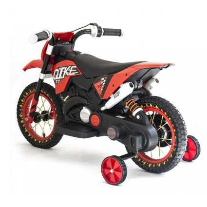 Детский кроссовый электромотоцикл красный Qike TD 6V - QK-3058-RED